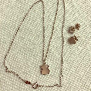 Tous Mini quartz bear silver